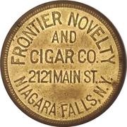 50 Cents - Frontier Novelty and Cigar (Niagara Falls, New York) – obverse