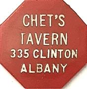 10 Cents - Chet's Tavern (Albany, New York) – obverse