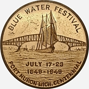 Token - Blue Water Festival (Port Huron, Michigan) – obverse