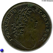 Token - Louis XV (Apollon) – obverse