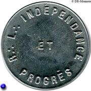 Masonic Token - Loge Indépendance et Progrès (Calais ou Nîmes) – obverse