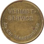 Car Wash Token - Kärcher Clean Park (Vermiet-Service; Brass) – obverse