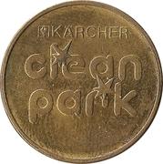 Car Wash Token - Kärcher Clean Park (Vermiet-Service; Brass) – reverse