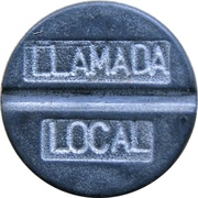 Telephone Token - EMETEL (llamada local; framed) – obverse