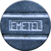 Telephone Token - EMETEL (llamada local; framed) – reverse