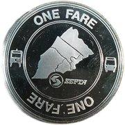 1 Fare - SEPTA (Bicentennial Token) – reverse