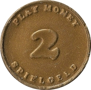 2 Pfennig (Spielgeld / Play Money) – obverse