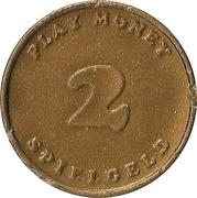 2 Pfennig (Spielgeld / Play Money) – reverse