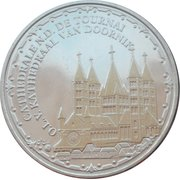Token - World Heritage (Cathedrale N.D. De Tournai; colorized) – obverse