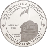 Medal - Ontario Numismatic Association Convention 2016 (Kitchener, Ontario) – obverse