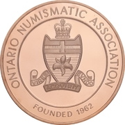 Medal - Ontario Numismatic Association Convention 2016 (Kitchener, Ontario) – reverse