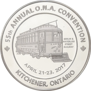 Medal - Ontario Numismatic Association Convention 2017 (Kitchener, Ontario) – obverse