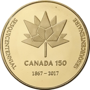 Medal - Waterloo Coin Society (Canada 150) – reverse