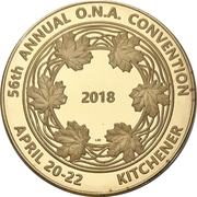 Medal - Ontario Numismatic Association Convention 2018 (Kitchener, Ontario) – obverse