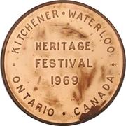 Token - Heritage Festival (Kitchener-Waterloo, Ontario) – reverse