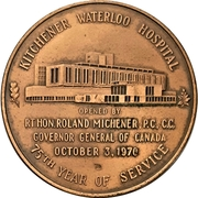 Token - Kitchener Waterloo Hospital opening – obverse
