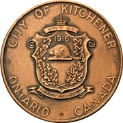 Token - Kitchener Waterloo Hospital opening – reverse