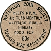 50 Cents - Waterloo Coin Society – reverse