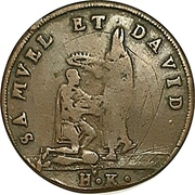 Token - Samuel and David / Remus and Romulus (Hans Krauwinkel; Nuremberg) – obverse