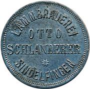 20 Flaschen - Lammbrauerei Otto Schlanderer (Sindelfingen) – obverse