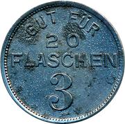20 Flaschen - Lammbrauerei Otto Schlanderer (Sindelfingen) – reverse