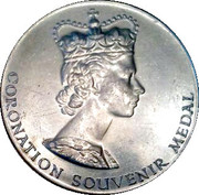 Coronation Souvenir Medal - Elizabeth II Coronation – obverse
