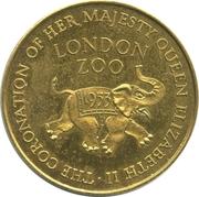 Medallion - Elizabeth II Coronation (London Zoo) – reverse
