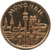 Token - Munich 1972 Olympic Games – reverse