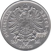 20 Mark - Wilhelm Deutscher Kaiser, König v. Preussen – reverse