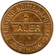 5 Taler - Berg und Hütten Apotheke (Dortmund) – obverse