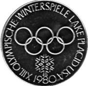 Token - Lake Placid Olympics (Bobsledder) – reverse