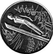 Token - Lake Placid Olympics (Ski jumper) – obverse