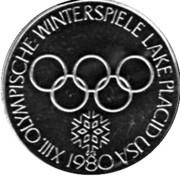Token - Lake Placid Olympics (Ski jumper) – reverse