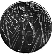 Token - Lake Placid Olympics (Ski runner) – obverse
