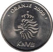 Token - KNVB Oranje 2000 (Frank de Boer) – reverse