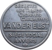 5 Centimes - Van Der Elst (Stamp) -  reverse