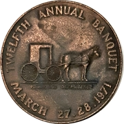 Medal - Waterloo Coin Society (12th Annual Banquet) – reverse