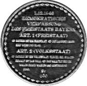 Token - Freistaat Bayern – reverse