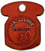 ½ Gallon Homo - Maple Lane Dairy (Kitchener, Ontario) – obverse