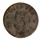 5 Cents - Owl Cigar Store – reverse