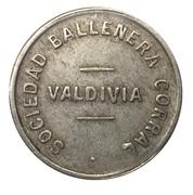 1 Peso - Sociedad Ballenera Corral (Valdivia) – obverse