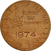 Wooden Quarter - Elmira Maple Syrup Festival – obverse