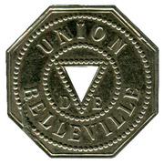 Masonic Token - Union de belleville - Grand Orient de France (Paris) – obverse