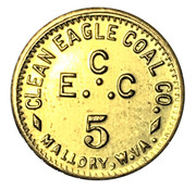 5 Cents - Clean Eagle Coal Co. (Mallory, West Virginia) – obverse