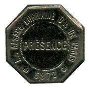 Masonic Token - Franc Maçonnerie - Loge Alsace-Lorraine - Obédience  de Paris – obverse