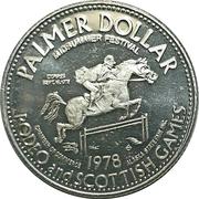 Palmer Dollar - Midsummer Festival (Palmer, Alaska) – obverse