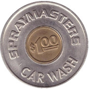 1 Dollar Car Wash Token - Spraymasters (Oakland) – obverse