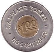 1 Dollar Car Wash Token - Spraymasters (Oakland) – reverse