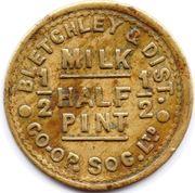 ½ Pint Milk - Bletchley & District  CSL – obverse