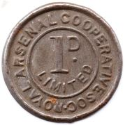 1 Penny - Royal Arsenal Cooperative Soc Limited – obverse